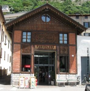 La stazione della funicolare per Brunate